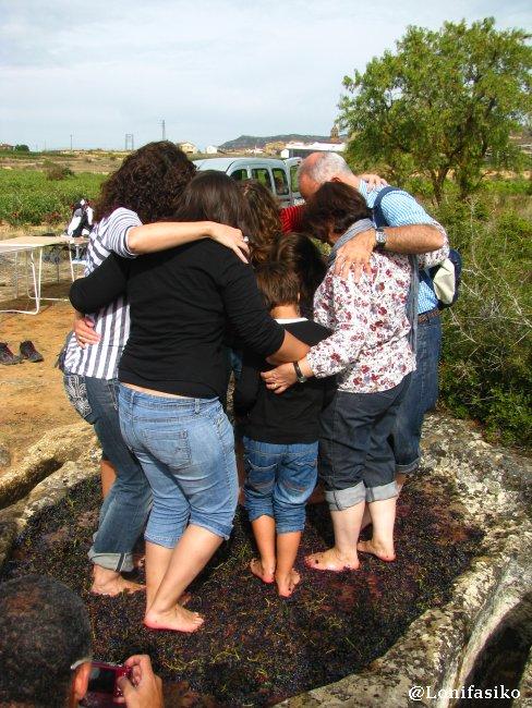 Pisar uva, acto de hermandad, trabajo en equipo