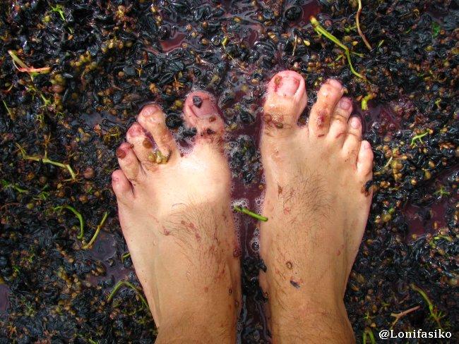 Vinoterapia para los pies