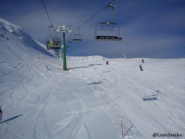 Pista azul de Colocobia en la estación de esquí de Valdezcaray