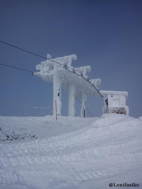 Telesilla Campos Blancos, cota más alta de la estación de Valdezcaray