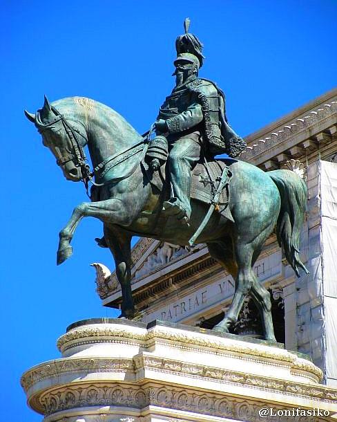 Estatuas en Roma: Vittorio Emanuele II