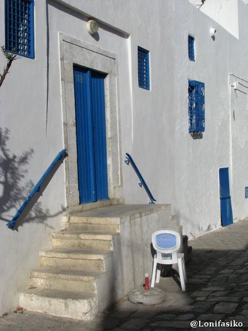Clásica estampa del ritmo de vida mediterráneo de Sidi Bou Said