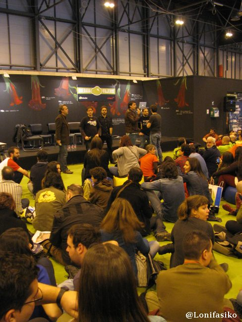 Paco Nadal, Sele, Miquel SIlvestre y Daniel Landa junto a Pedro Jareño de @minube