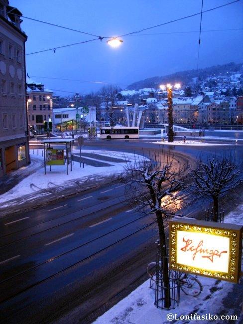 Vistas desde la habitación del Hotel Maximilian de Innsbruck