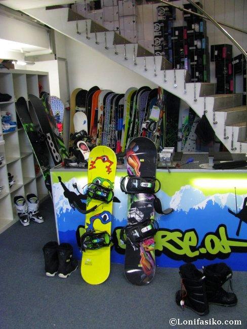 Planta baja de la tienda de alquiler de esquí Die Böerse