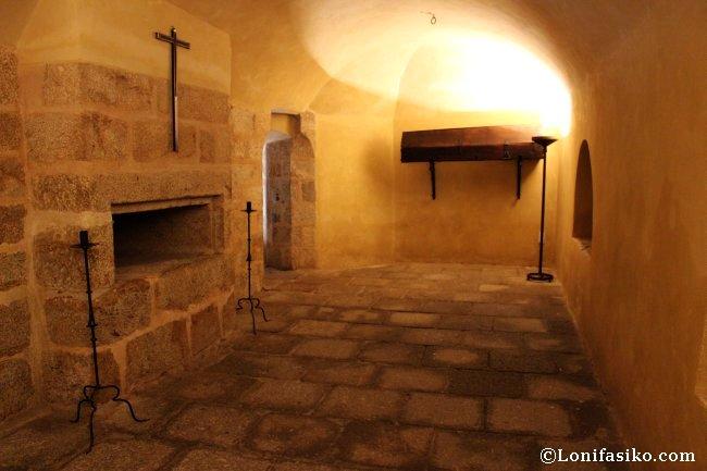 Cripta que Carlos V mandó construir para su entierro en el Monasterio de Yuste