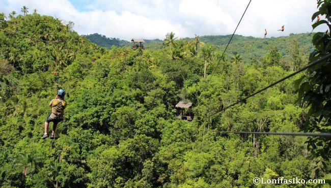 Tirolinas y turismo activo en Samaná República Dominicana
