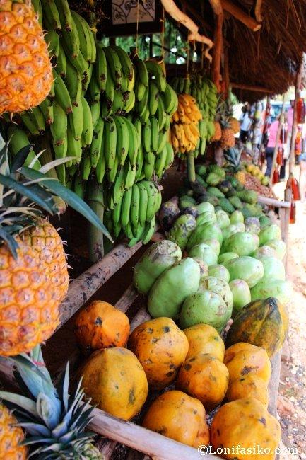 Comer fruta en el Caribe República Dominicana