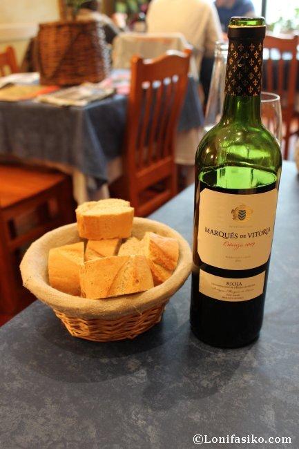 Amplia oferta de vinos, a precio competitivo, la que ofrece el Restaurante Hilarion