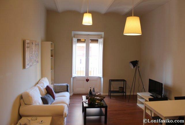 Sala del apartamento, ideal para la convivencia bloguera