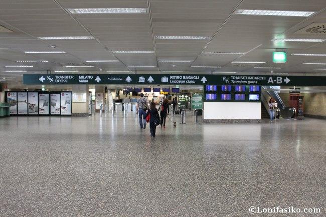 Indicaciones para ir desde Aerpuerto de Malpensa a Milán