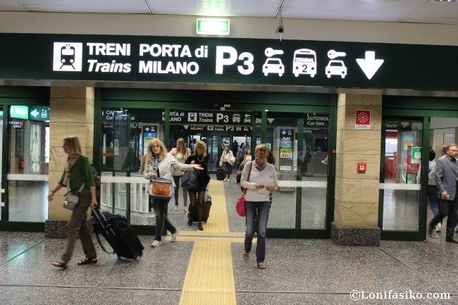 Tren desde Malpensa a Milán