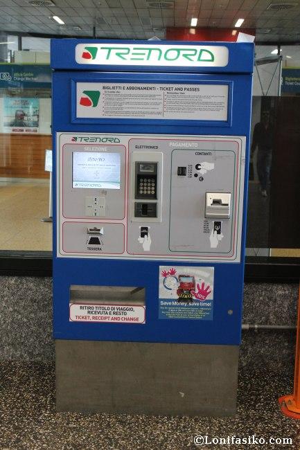 Dónde comprar billetes del Malpensa Express en Malpensa