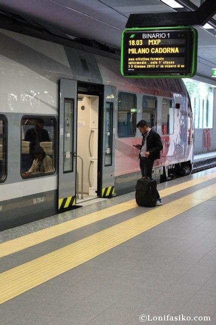 Tren Malpensa Express a Milán