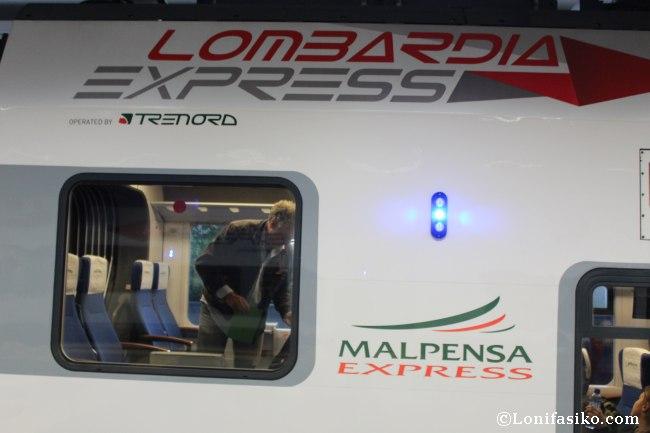 Tren Malpensa Express desde el aeropuerto a Milán