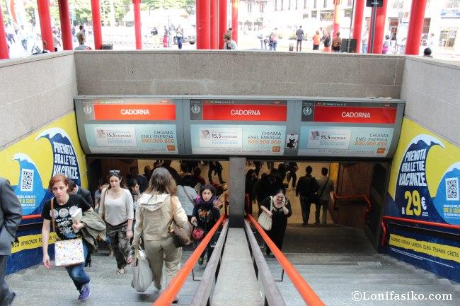 Metro Milán: Estación de Cadorna