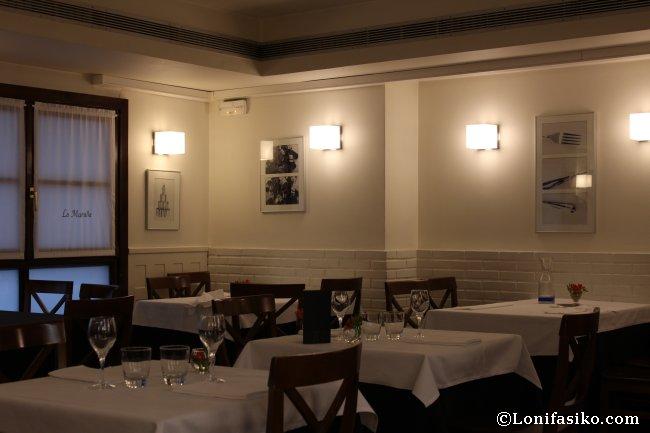 Comedor del Restaurante La Muralla en Donostia San Sebastián