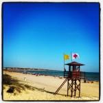Sopla el 'Levante' en la Playa de La Barrosa