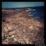 Caos de rocas en el faro de Corrubedo