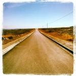 Carretera camino al faro de Corrubedo