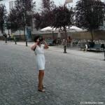 Laura retratando cada detalle de Santiago de Compostela