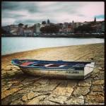 Barca en el puerto de Rianxo