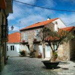 Rincón encantador en el casco histórico de Rianxo