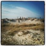 Dune jumping en la playa de Carnota