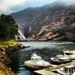 Embarcadero cerca de la cascada del río Ézaro/Xallas