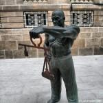 Escultura en el Casco Vello de Pontevedra