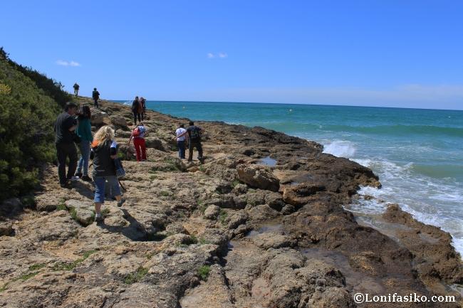 Ruta Senderismo entre acantilados Camino de ronda Tarragona