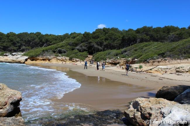 Calas playas nudistas Camí de Ronda Tarragona Castell Tamarit