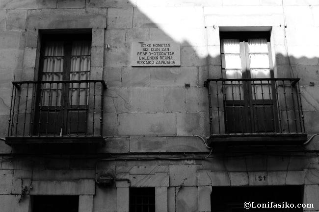 Casa donde vivió Valentín de Berriotxoa, misionero dominico y segundo patrón de Bizkaia