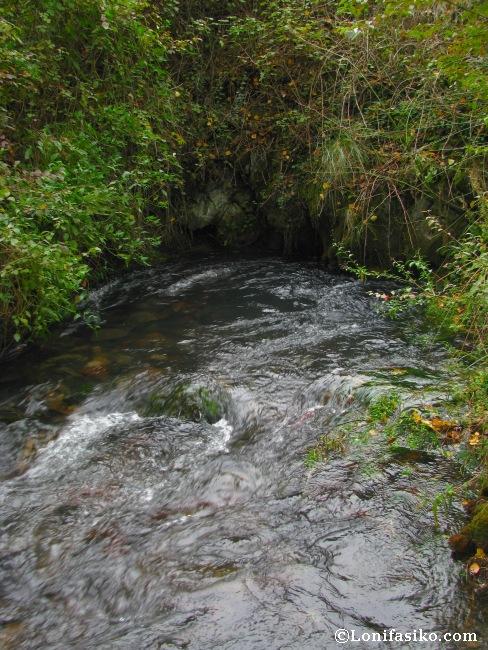 Poza donde surge a borbotones, desde las entrañas del Moncayo, el río Queiles