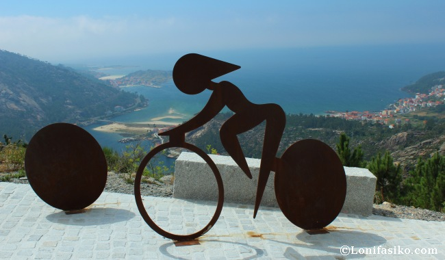 Subida al mirador de Ézaro en la vuelta a España 2012