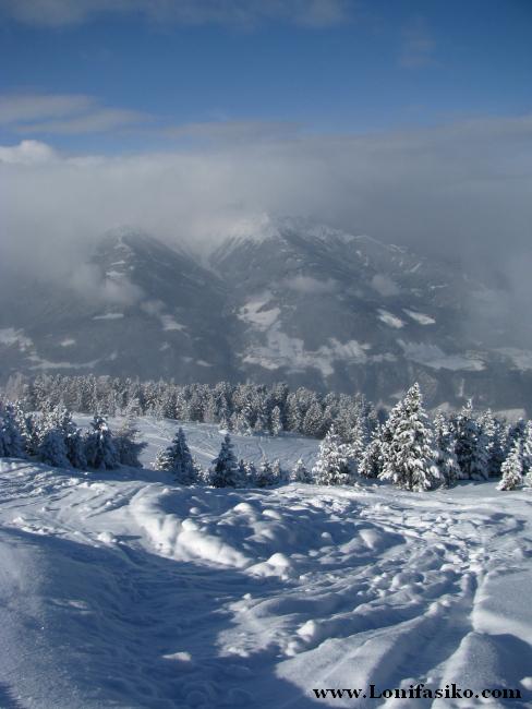 El paisaje y la calidad de la nieve, puntos a favor de la estación de Patscherkofel