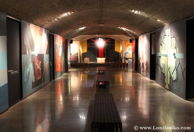 Obra Nestor Basterretxea Cripta Santuario Arantzazu