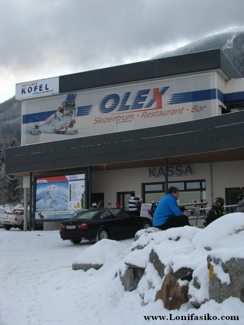 Taquillas del Skizentrum en la zona de Olympiaexpress, en Patscherkofel