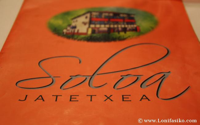 Carta del Restaurante Soloa en Abadiño