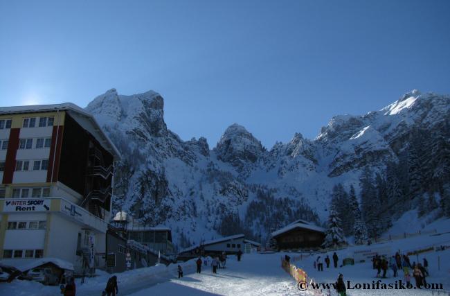 Cota baja de la estación de esquí de Axamer Lizum, a 1580 metros