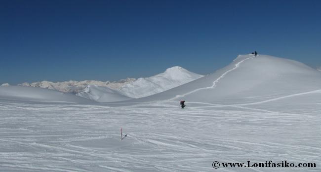 Nieve virgen, calidad de nieve impresionante en Axamer Lizum