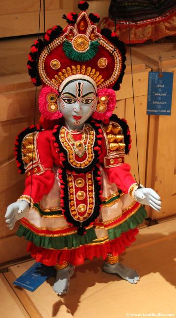 Marioneta procedente de la India el el museo Topic de Tolosa