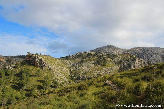 Puig de Galatzó desde el mirador de Ses Sínies