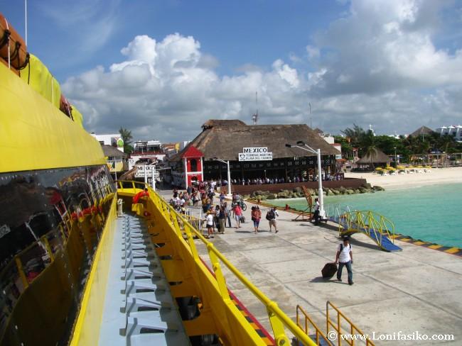 Terminal marítima de Playa del Carmen
