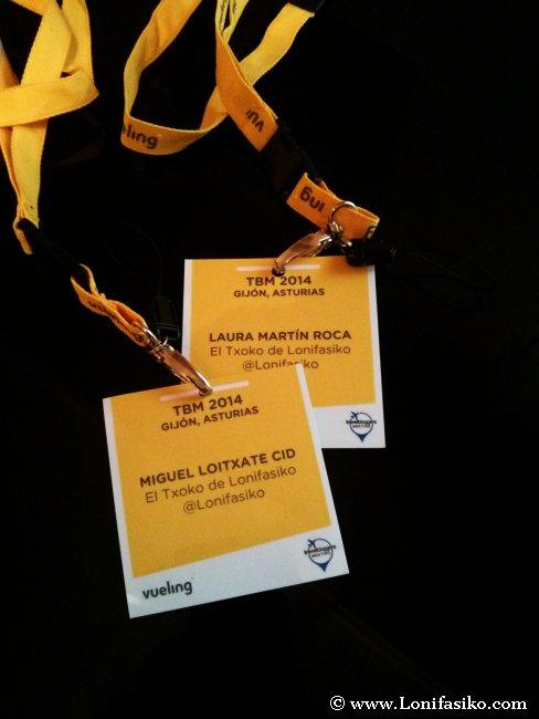 Acreditaciones del Travel Bloggers Meeting 2014 de Gijón