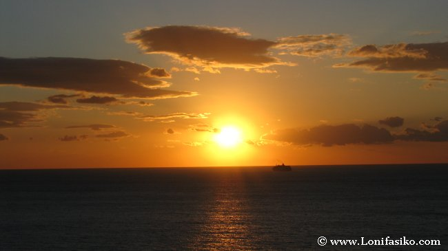 Crucero por el Mediterráneo Atardecer