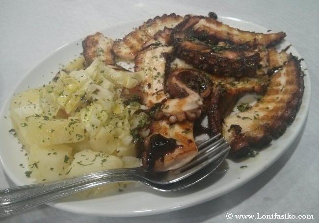 Restaurante Casa Dulce, homenaje gijonés al pulpo y al lacón