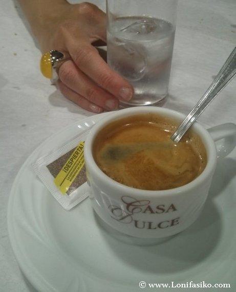 Café y orujo blanco, dulce y anisado
