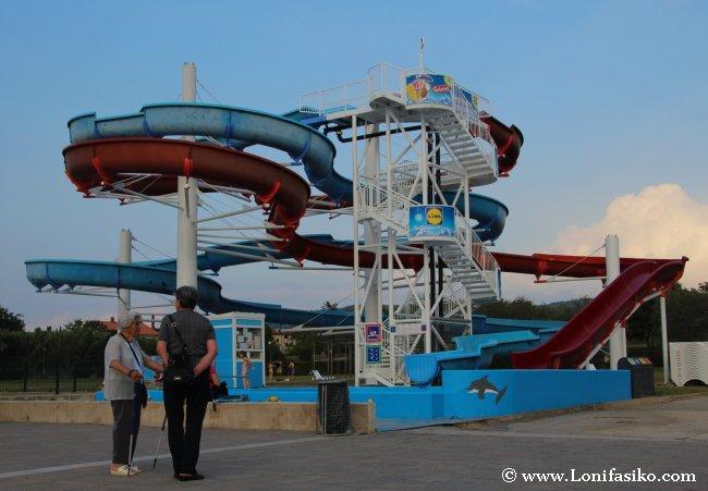 Aquaparks para niños en Eslovenia en verano
