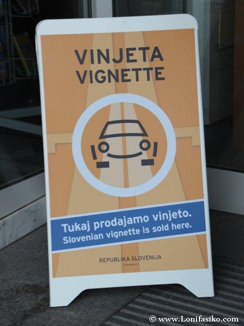VIñeta para circular en coche por autopistas Eslovenia